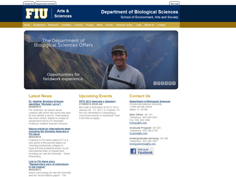 Florida International University. Department of Biological Sciences